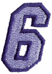 Club 3 6 embroidery design
