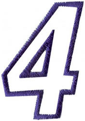 Club 4 4 embroidery design