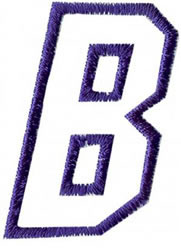 Club 4 B embroidery design