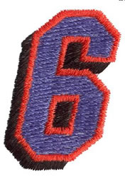 Club 6 embroidery design