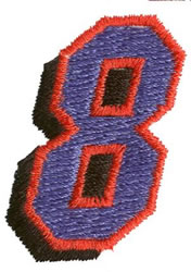 Club 8 embroidery design