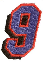Club 9 embroidery design