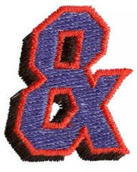 Club Ampersand embroidery design