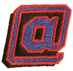 Club At Sign embroidery design