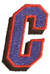 Club C embroidery design