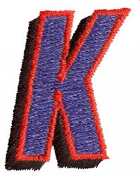 Club K embroidery design