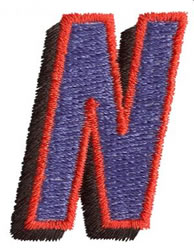 Club N embroidery design