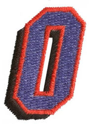 Club O embroidery design
