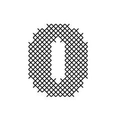 Cross Stitch Font 0 embroidery design
