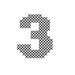 Cross Stitch Font 3 embroidery design