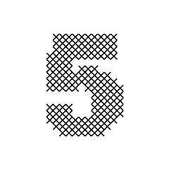 Cross Stitch Font 5 embroidery design