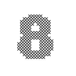 Cross Stitch Font 8 embroidery design