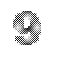 Cross Stitch Font 9 embroidery design