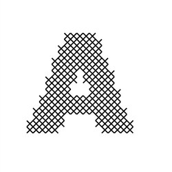 Cross Stitch Font A embroidery design