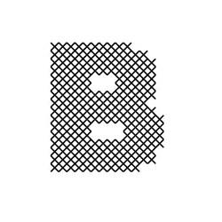 Cross Stitch Font B embroidery design
