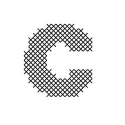 Cross Stitch Font C embroidery design