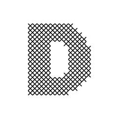 Cross Stitch Font D embroidery design