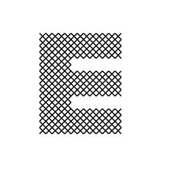 Cross Stitch Font E embroidery design