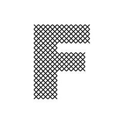 Cross Stitch Font F embroidery design