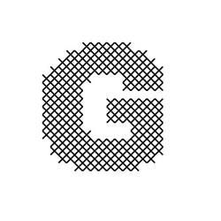 Cross Stitch Font G embroidery design