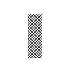 Cross Stitch Font I embroidery design