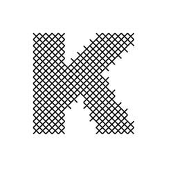 Cross Stitch Font K embroidery design