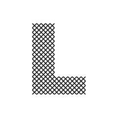 Cross Stitch Font L embroidery design