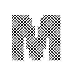 Cross Stitch Font M embroidery design