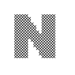 Cross Stitch Font N embroidery design