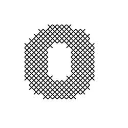 Cross Stitch Font O embroidery design