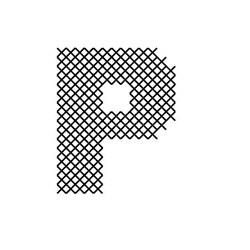 Cross Stitch Font P embroidery design
