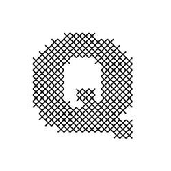 Cross Stitch Font Q embroidery design