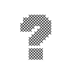 Cross Stitch Font Question Mark embroidery design