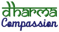 Dharma Compassion embroidery design