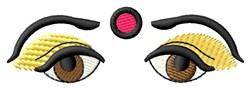 Eyes Bindi embroidery design