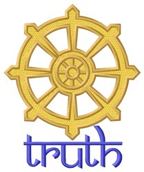 Truth Wheel embroidery design