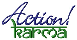 Action Karma embroidery design