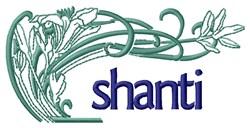 Shanti Plant embroidery design