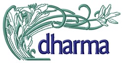 Dharma Plant embroidery design