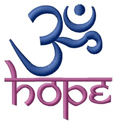 Hope Om embroidery design
