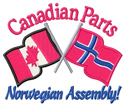 Canadian Parts Flags embroidery design