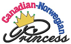 Canadian Norwegian Princess embroidery design
