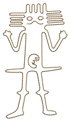 Astronaut Nazca Lines embroidery design