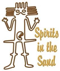 Nazca Lines Astronaut Spirit embroidery design
