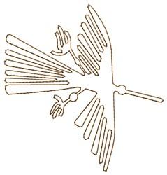 Nazca Lines Condor embroidery design