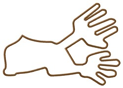 Hands Nazca Lines embroidery design