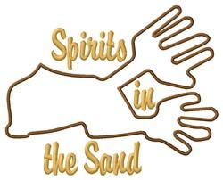 Nazca Lines Spirits embroidery design