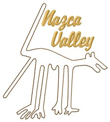 Nazca Lines Valley Dog embroidery design
