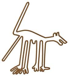 Dog Nazca Lines embroidery design