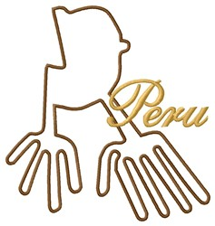 Peru Wings Nazca Lines embroidery design